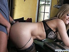 Alexis Texas with tiny tits gets her hole slammed silly by Rocco Reed