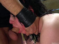 Charlotte wanted to try a gangbang, but she may have got more than she bargained for. Her asshole and her pussy are stuffed with cock, and she has another ramming repeatedly down her throat. The filthy slut just keeps taking it, including a black dick from one of the guys. She's equal opportunity!