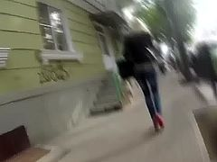 candid sexy as russian girl  spanking