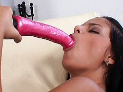 Black Angelica needs nothing but a vibrator in her love hole to get orgasm