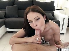 Devilishly sexy tramp Abbie Cat with phat booty finds herself getting pounded by horny dude