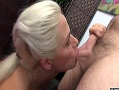 Blonde Office Beauty Loves To Suck Hard Cock