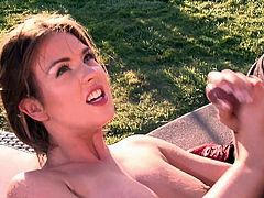 Young girl Alice Lighthouse has oral sex in the outdoors with a lucky man. She gets her pussy licked and her hot mouth fucked right in the sun. Alice Lighthouse does dirty things in the open air.