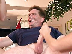 Lacey Leveah gets ruthlessly fucked in her mouth by Kyle Stone