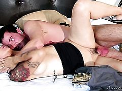 Dane Cross cant wait any longer to stick his schlong in sinfully sexy Dana Vespolis mouth