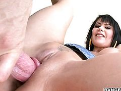 Brunette Eva Karera has some dirty fantasies to be fulfilled with guys stiff ram rod in her mouth