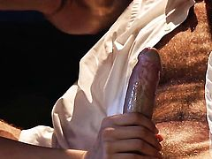 Tori Black has fire in her eyes as she gets her pretty face covered in cream