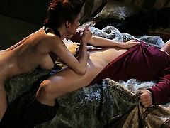 Veronica Avluv and horny dude have a lot of fun in this oral action
