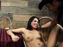 Mouth-watering harlot Danica Dillan gets mouth drilled
