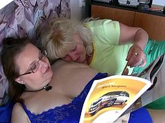 OldNanny Chubby granny and old granny masturbating on the bed