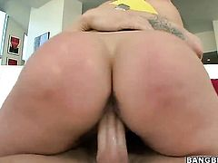 Blonde with massive tits Alanah Rae on hard cock