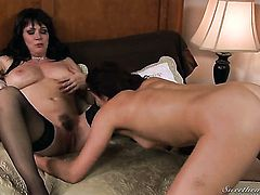 Dylan Ryan gets her bush stuffed full of cock in steamy action with Sean Michaels
