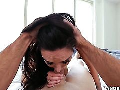 Brunette Lela Star with juicy bottom needs cumshot badly