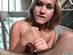 Kennedy Leigh is handling a cock