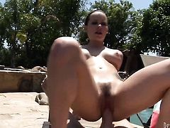 Steven French is horny as hell and cant wait no more to pound hot Katie St. Ivess mouth after anal sex