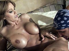 Julia Ann gets her mouth destroyed by stiff love stick