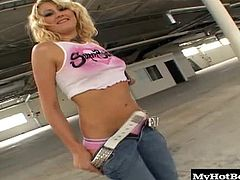 Stacy Thorn is a gorgeous blonde teen