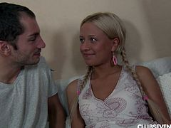 We all dream of having a sexy teen in pigtails, wearing white cotton panties, being up in her room, having her suck your dick and doing kinky stuff with her, like giving her her first rimjob. Ellen is that teen, and her boyfriend is living that fantasy out with her right now. Watch it all happen here!