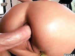 Brunette Trina Michaels is full of passion to be anally fucked