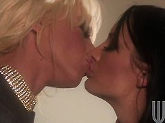 Alektra Blue is on the edge of nirvana after lesbian sex with Tanya James