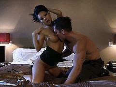 Sex crazed tart Asa Akira takes cumshot on her lovely face