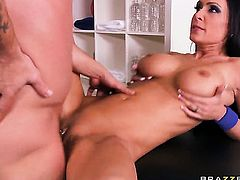 Mr. Pete explores the depth of prettied up Jessica Jaymess wet love hole with his pole