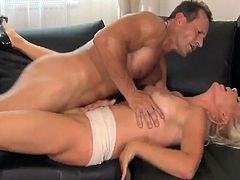 Erotic Blonde Milf licks And has Her Vag bonked Doggy position