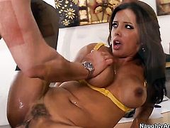 Seth Gamble enjoys prettied up Francesca Les wet hole in hardcore action