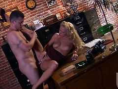 Cassie Young gets down on her knees to be face fucked