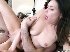 Bodacious hussy Victoria Lawson with tiny butt and hairless cunt finds herself getting fucked by Charles Dera again and again
