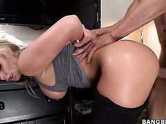 Phoenix Marie with round bottom doing wild things with hard dicked dude