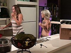 Kleio Valentien with massive knockers going solo for camera