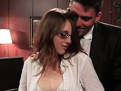 Ultra hot temptress Nickey Huntsman and her hard cocked bang buddy are in the mood for oral sex