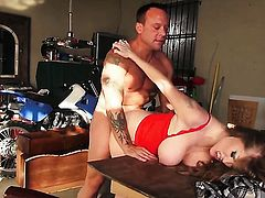 Darla Crane has a nice time playing with mans cum loaded dick
