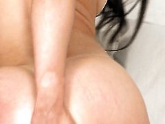 Lucy heart with tiny tits and smooth twat wants this solo sex session to last forever