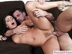 Johnny Castle is one hard-dicked guy who loves fucking Gracie Glam with round ass
