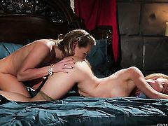 Carter Cruise and Kayden Kross satisfy their sexual desires together in girl-on-girl action