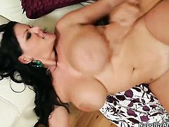Johnny Castle is horny as hell and cant wait any more to bang sexy bodied Angelina Castros honeypot with his stiff tool