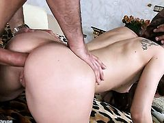 Brunette Stacy Snake fucking six ways from Sunday to satisfy her anal desires