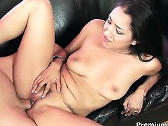 Extremely sexy pornstar Vicki Chase loves the way man drills her mouth