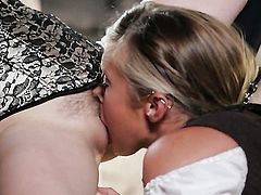 Penny Pax with massive knockers gets her muff rubbed by Carter Cruise in girl-on-girl action for your viewing entertainment