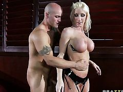 Derrick Pierce cant resist incredibly sexy Nadia Hiltons acttraction and fucks her like crazy