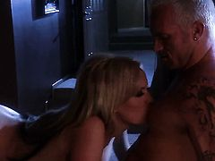 Stormy Daniels having oral fun with horny dude