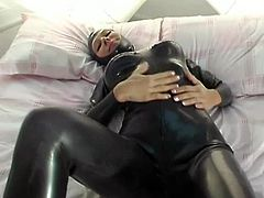 Latex FullCatsuit with Gasmask