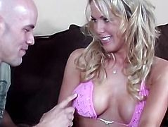 Gorgeous blonde mom cheats on husband