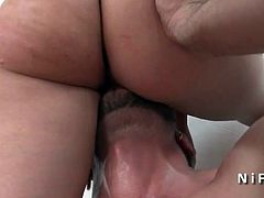 Pretty young french blonde hard banged for her casting couch