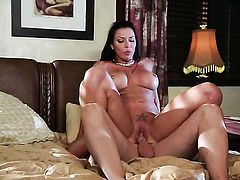 Rachel Starr lets guy stick his meaty love stick in her mouth