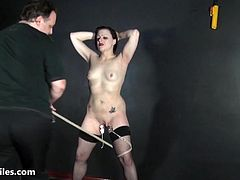 Tit whipping and pussy pain of struggling slave Isabel Dean