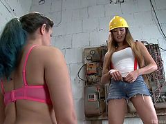 After a hard day on the construction site, this hot tranny needs her sexy female lover to suck on her lady dick. Venus is filled with pleasure and erotic ecstasy as Penny slurps on her cock. Penny takes off her bra, to get this hot Asian tranny dripping with precum.