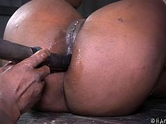 ebony milf punished with rope and gagged